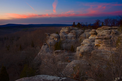Twilight at Garden of the Gods Illinois