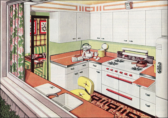 1945 Picture Window Kitchen