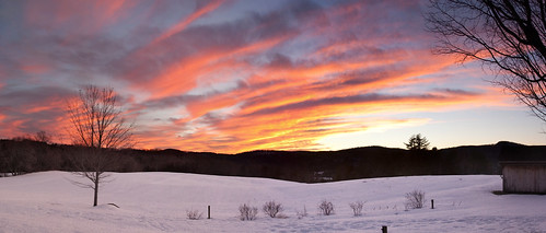 sunset panorama uppervalley