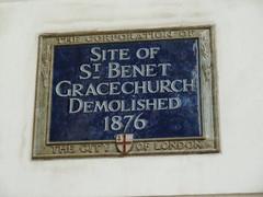 Photo of St. Benet Gracechurch, London blue plaque