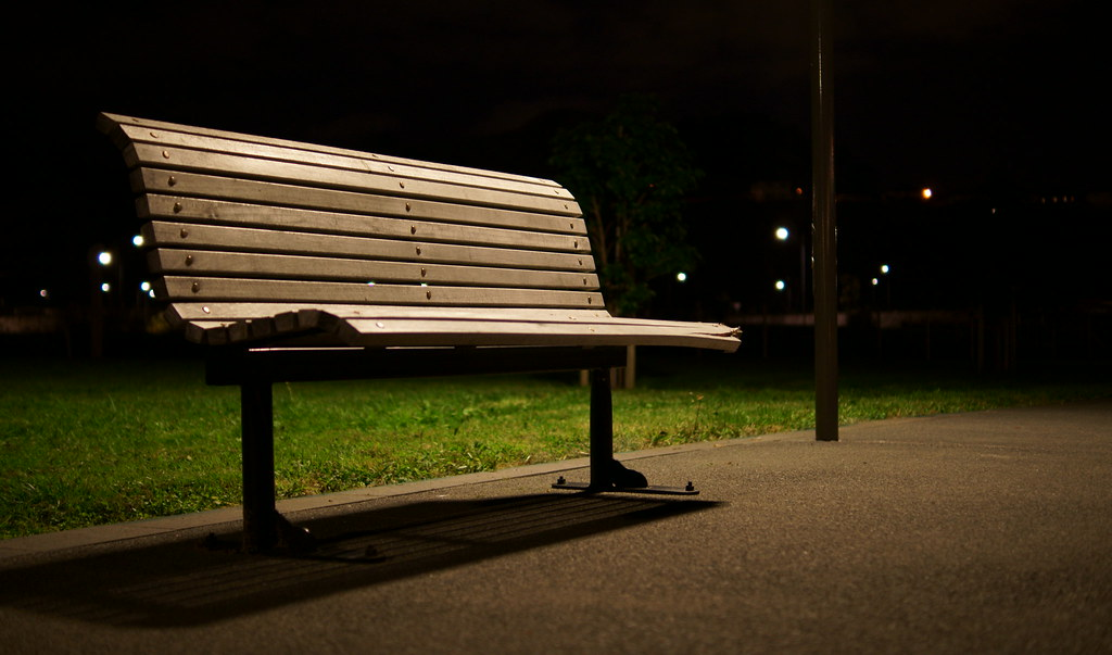 Park Bench At Night Adow031 Flickr