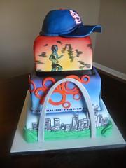 icing(0.0), cake(1.0), fondant(1.0), baked goods(1.0), sugar paste(1.0), food(1.0), cake decorating(1.0), birthday cake(1.0), blue(1.0),