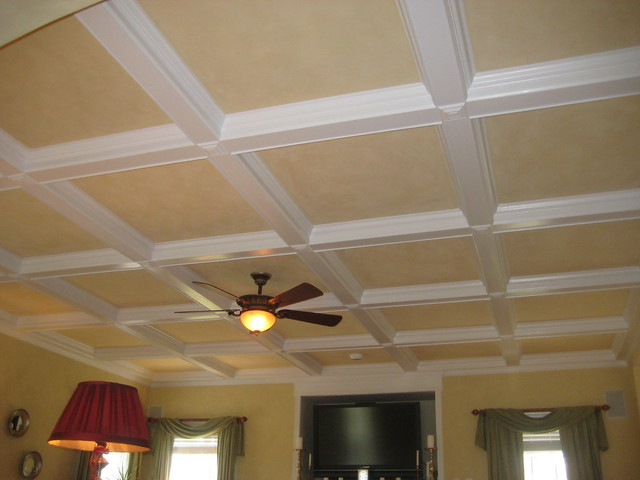 Coffered ceiling painting ceiling systems for Coffered ceiling paint ideas