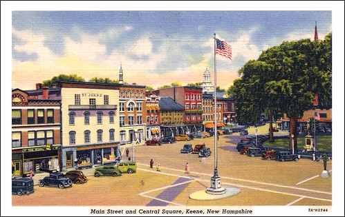 Central Square and Main Street in Keene NH