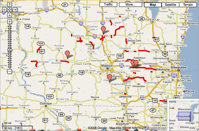 June 16  Closed Wisconsin State Roads Google Maps