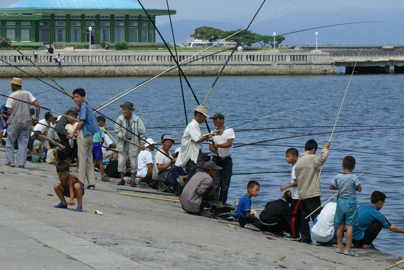 Anglers at Wonsan pier