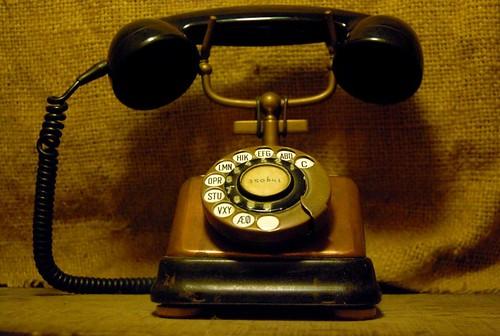 美麗的老電話