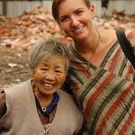 Audrey with Chinese Friend - Chengdu, China