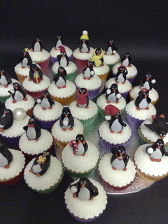 March of the Penguin cupcakes