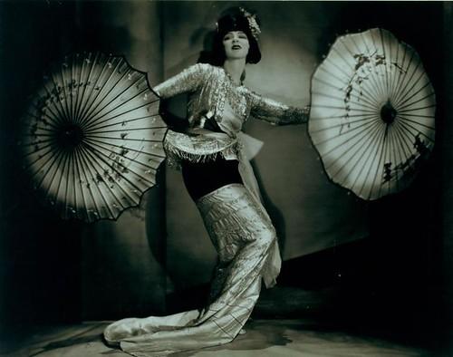 Ruth St Denis in a Burmese solo dance.