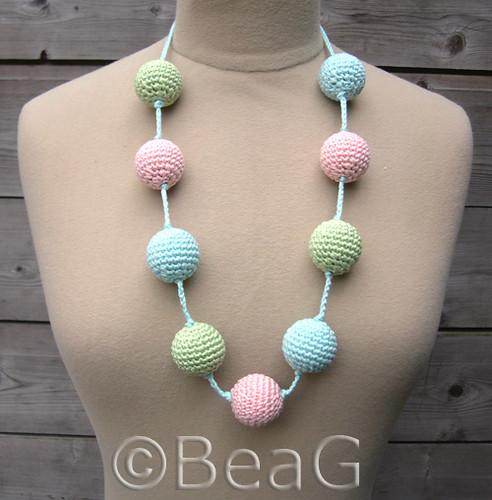 Necklace with Crocheted Beads (Ketting met Gehaakte Kralen) Flickr ...