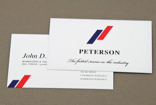 Upscale Automobile pany Business Card