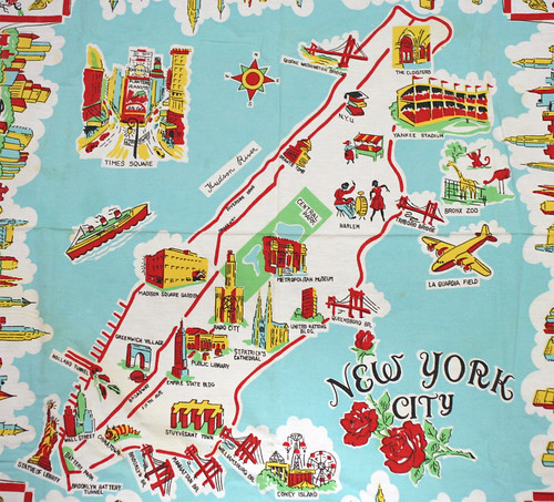 Awesome Ny Souvenir Map From The 50 U2019s
