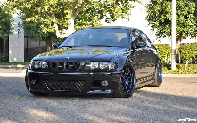Interlagos Blue E46 M3 >> Black E46 M3 with Magnesium Blue Volk CE28 Wheels | BMW Performance Parts & Services