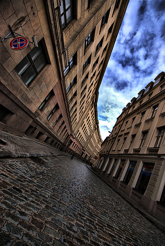 Cobbled Street ~ Cool Curves ~ Riga ~ Latvia