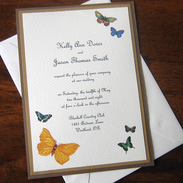 Kelly A Handcrafted Wedding Invitation and