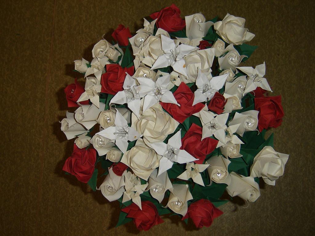 Origami Roses - Paper Rose Bouquet - Paper Flower Bouquet ...   768x1024