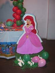 de fiestas infantiles a domicilio, fiesta temática la sirenita