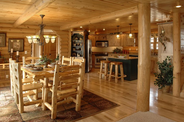 Exterior: Double Eagle Deluxe By Golden Eagle Log Homes