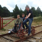 Train bike in Holmsland