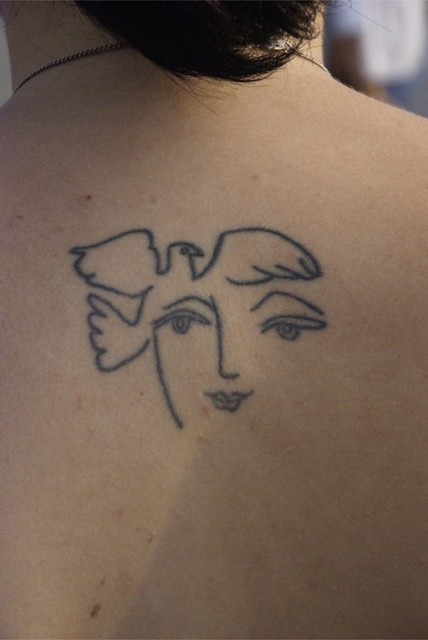 Picasso Line Drawing Tattoo : A e f z g zz