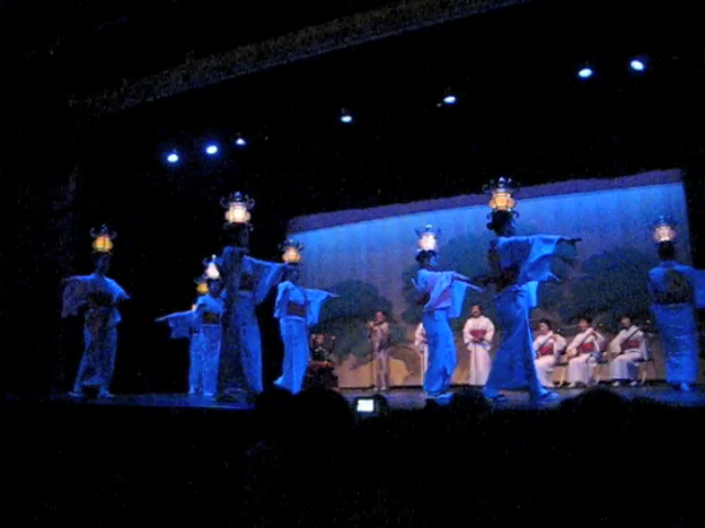 Lantern Dancers in Yachiyosa theater