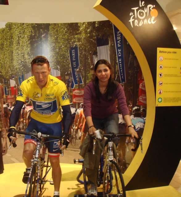 Lance Armstrong Statue at Madam Tussads