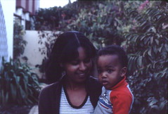 Young Senegalese boy and his Nanny, Dakar, Sénégal (west Africa)