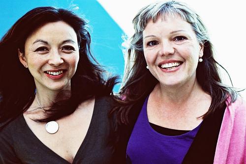 Madeleine Shaw and Suzanne Siemens of Luna pads