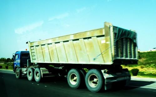 A dumping truck