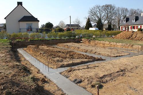 Fondations et prise de terre la triskeline for Beton coule en place