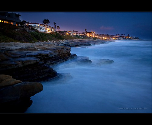 california seascape beach night coast nightscape sandiego lajolla windansea southerncalofornia