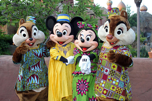 Mickey, Minnie, Chip and Dale in their African finest