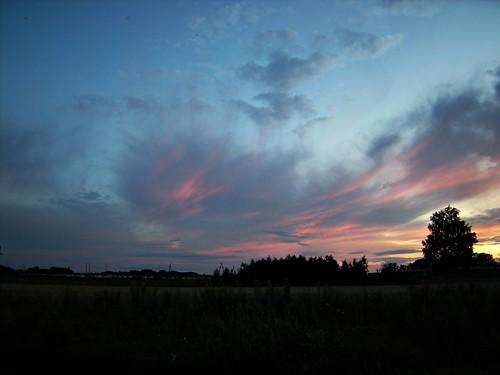 sunset clouds zachód słońca chmury niebo kalisz zagorzynek