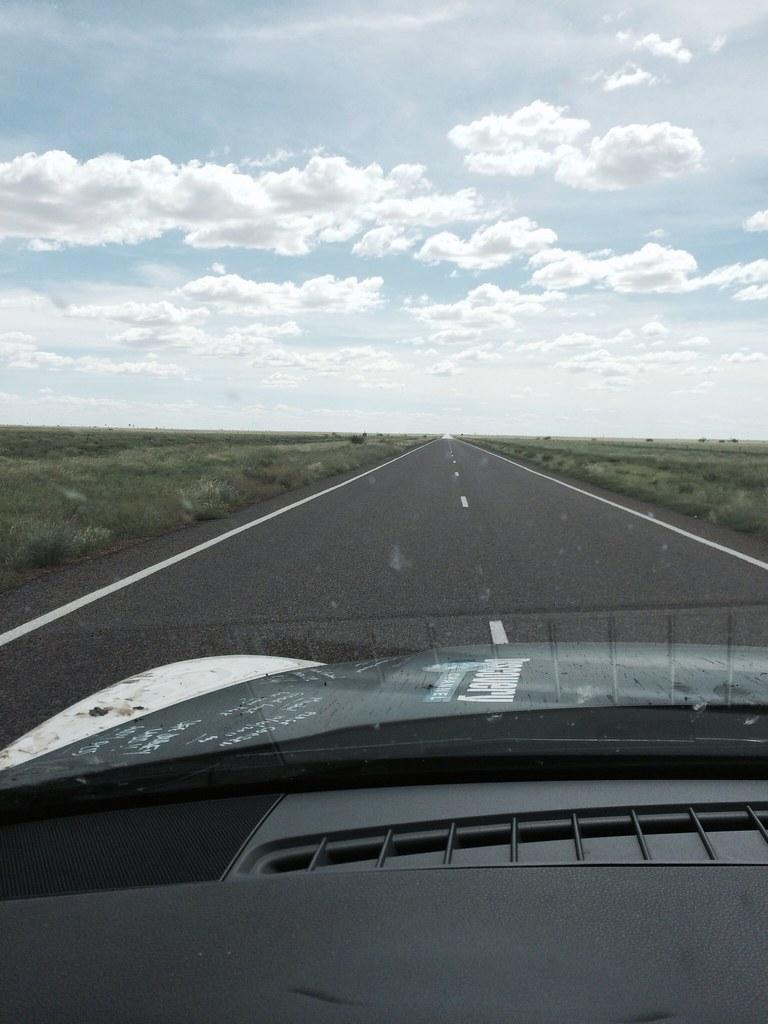 Long straight roads..