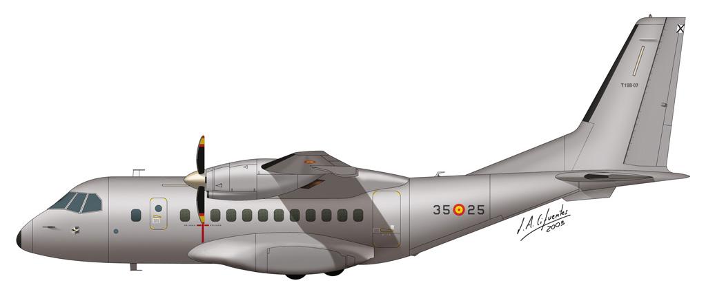 CN-235 Ala 35 gris