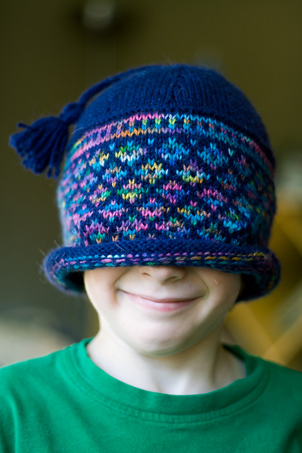 Joshua Models the Jacquard Hat