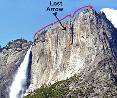 Our hike over Lost Arrow from Yosemite Falls