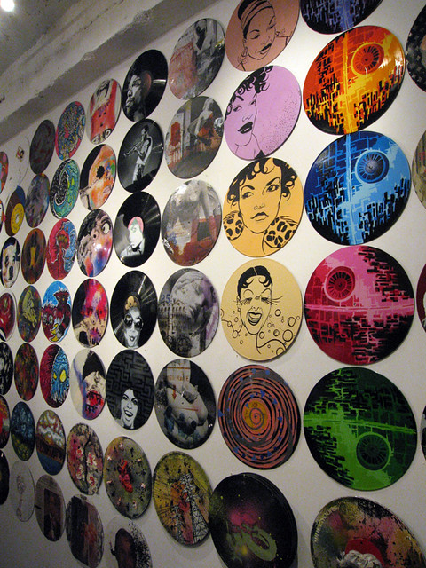 Vinyl record art flickr photo sharing for Vinyl record wall art