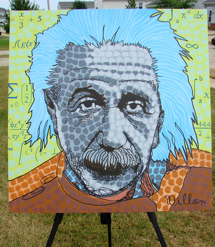 Painting Of Albert Einstein By DILLON