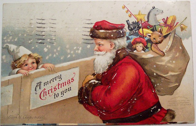 Vintage Christmas Postcard - Santa from Flickr via Wylio