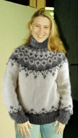 Womens White Turtleneck Sweater