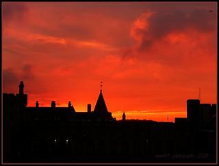 sunset over windsor...