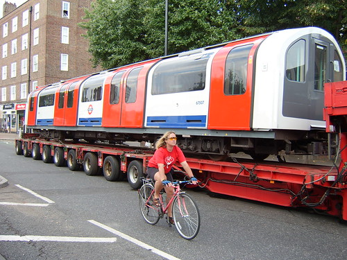 Overtaking an Underground train on a bike