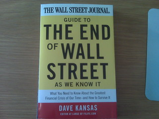 Just got a copy of dave kansas' new book 'The End Of Wall Street As We Know It'