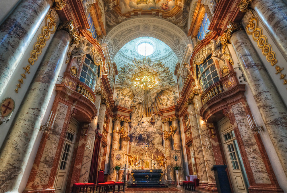 Inside St. Charles's Church in Vienna