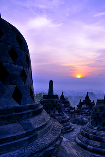 Sunrise at Borobudur 1