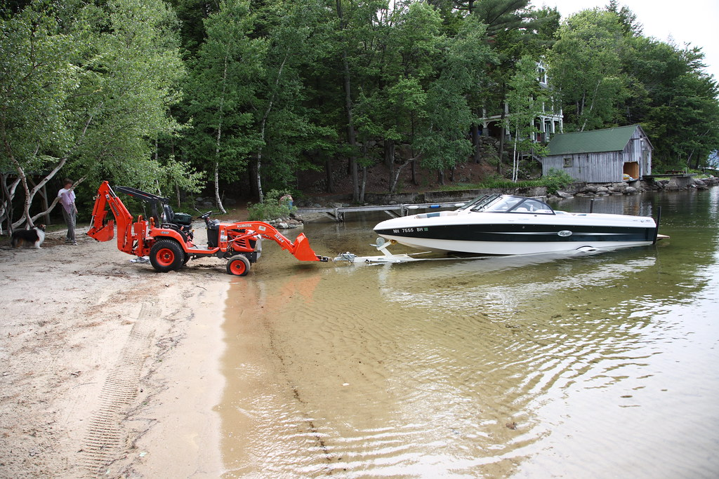 Tractor Pull Boats : Bx too small for pulling boat went in but wouldn t