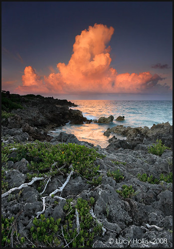 sunset cloud night clouds evening bermuda gravellybay