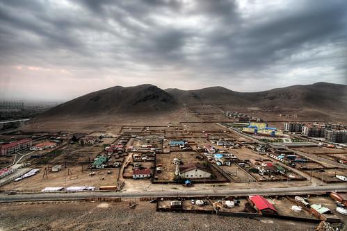 city urban sunrise landscape dawn capital mongolia ulaanbaatar ger folioselect